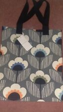NEW ORLA KIELY FLOWER PRINT JUTE SHOPPING BAG FROM TESCO Limited Design BNWT
