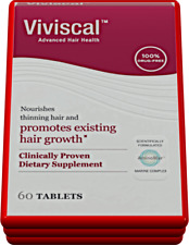 60 Tablets - Viviscal Advanced Hair Health Promotes Existing Hair Growth -Woman