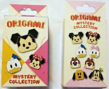 Disney Collectible Pin Pack Origami Mystery Box of 2 Pins Sealed New