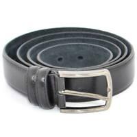 Cintura uomo nera in pelle spazzolata regolabile fibbia in acciaio nickel free m