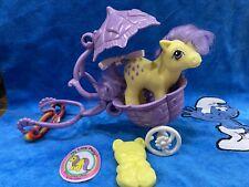 Mein kleines Pony Baby Lemon Drop + Purple Stroller + acc. ** My Little Pony ***