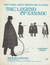 The Legend Of Xanadu - Dave Dee, Dozy, Beaky, Mick & Tich - 1968 Sheet Music