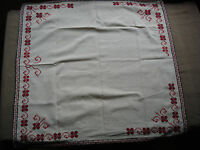 #745  Beautiful Vintage Hand Embroidered Tablecloth  72cm/70cm(28''/27.5'')