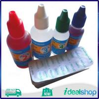4 in1 Aussie Gold Pool Test Kit Refill Solutions 2, 3, 4, 5 & 50 DPD No1 Tablets