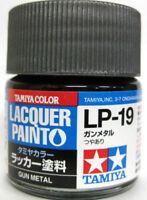 TAMIYA COLOR LACQUER LP-19 Gun Metal PLASTIC MODEL KIT PAINT 10ml NEW