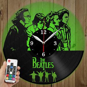 LED Vinyl Clock The Beatles LED Wall Art Decor Clock Original Gift 4135