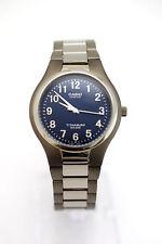 CASIO Midsize LIN-162-2 Titanium Bracelet Blue Dial Analog 50M Water Resistance