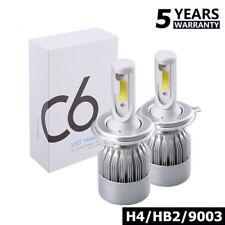 1pair COB H4 C6 6000LM 60W LED Car Headlight Kit Hi/Lo Turbo Light Bulbs 6000K