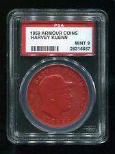 VINTAGE - 1959 - ARMOUR COINS - HARVEY KUENN - TIGERS - RED - PSA 9 - MINT