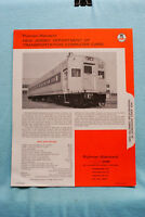 New Jersey Dept of Trans Commuter Cars  - Pullman Standard - Brochure