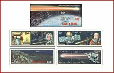 LAO8609 Halley comet 7 stamps and block