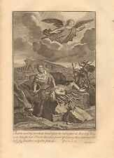 1770  ANTIQUE PRINT -BIBLE- AND HE SAID, LAY NOT THINE HAND ON THE LAD
