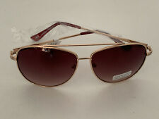 NEW! TOMMY HILFIGER SIOBHAN GOLD AVIATOR FRAME BROWN SUNGLASSES SHADES SALE