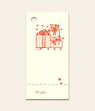 50 Gift Boxes Hang Tags Perforated For Price, Christmas Or Everyday ~Crafts
