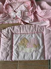 5 Teile Bettwäsche rosa2 STICKEREI Kissen Deckenbezug Nestchen  Kissen Decke