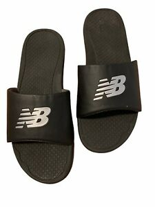 New Balance Mens Sandals Slides Black White Size 11  S-8210300