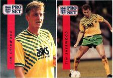 Vintage 1990 British soccer Lot of (9) cards; VGOOD+ assorted teams - NR