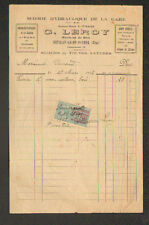 """BETHISY-SAINT-PIERRE (60) SCIERIE de la GARE """"A. LEMAIRE / G. LEROY Succ"""" 1923"""