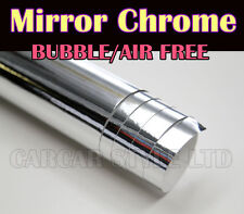 Mirror Chrome【 silver 】Vinyl 2 Meter X 0.75 Meter 【AIR/BUBBLE FREE】 for car boat