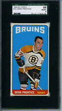 1964 Topps # 19 Dean Prentice Graded Card SGC 88 = 8 Boston Bruins