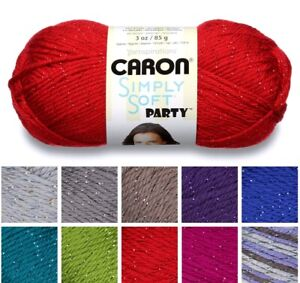 [BUY 10 GET 25% OFF] Caron Simply Soft Party 85g - hint of metallic sparkle yarn