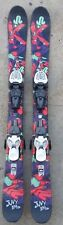 2016 K2 109CM JUVY JR TWIN TIP SKIDA SKIS W/ MARKER 7.0 BINDINGS