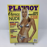 Playboy Magazine March 2000 Caprice, Jesse Ventura II, Jon Stewart Interview