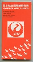 JAL JAPAN AIRLINES TIMETABLE JANUARY-MARCH 1982