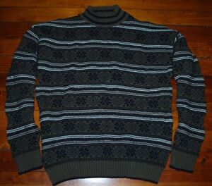 WOOLRICH 100% Cotton Men's Breen Sweater Made in the USA Large Excellent Cond