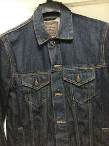 Men's Lucky Brand Dark wash cotton Denim Trucker's Jacket MedNew without tags
