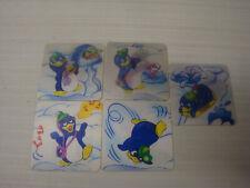 Kinder ancien - lot 5 images petits Pingos Nutella ferrero 1992