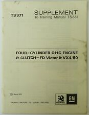 Vauxhall Victor FD, Ventora Engine and Clutch Training Manual; Vauxhall No TS971