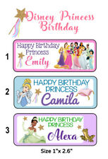 50 Disney Princess Birthday Party Stickers Labels For Goodie Bags Or Favors
