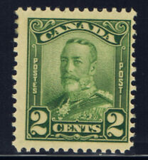 Canada #150(1) 1928 2 cent green King George V Scroll Pencil on Back MNH