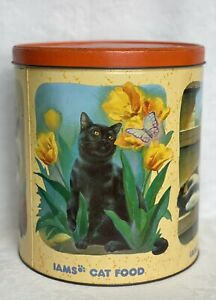 Iams Cat Foods Fourth in Series Tin Can Summer Spring Fall Winter 1994 Vintage