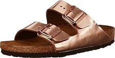 BIRKENSTOCK Arizona Women Metallic Copper Leather with Rubber Sole Sandal US 10