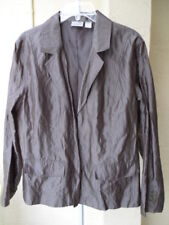 Femmes printemps veste blazer top 14/16 Crinkle Metallic marron bronze de Chico USA