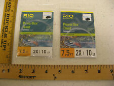 (2) RIO Powerflex Trout Tapered Leader Freshwater 7.5 FT 2X 10 LB LOT Box 201