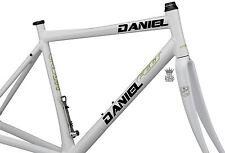 2 X Adesivi Personalizzati Nome Bici Vinile Decalcomanie Dream font Bicicletta BMX Custom