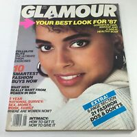 VTG Glamour Magazine: January 1987 - Louise Vyent Cover No Label/Newsstand