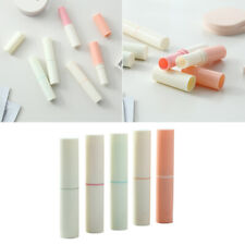 5pcs Empty Lipstick Tubes Smooth Plastic Empty 4g Lip Balm Tubes for Women Girls