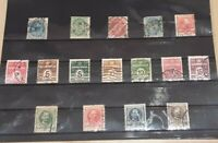 Denmark 1875 - 1907 collection of early used definitive stamps