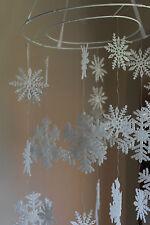 Natale Interno Decorazione - da Parete Plastica Fiocco di Neve con Glitter