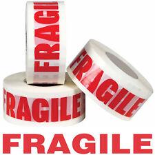 2x 50 M 151 fragile Ruban Auto-Adhésif Danger Safety prudence rouge lettres