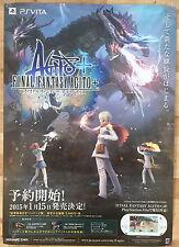 Final FANTASY AGITO + RARE PS Vita 51.5 cm X 73 Cm Cartel Promo Japonés