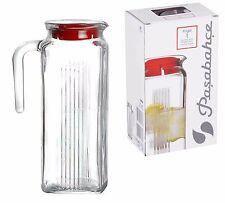 Pasabahce Refrigerator 1 Litre Fridge Water Juice Beverage Glass Jug With Lid