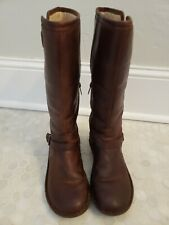 UGG Australia Uggs Womens 8 39 Tupelo Brown Leather Harness Riding Boots 1003335