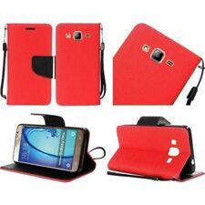 Fundas y carcasas color principal rojo de piel para teléfonos móviles y PDAs Samsung