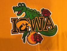 Vintage 1984 Iowa Hawkeyes Football Rose Peach Gator Bowl Yellow T-Shirt Xl #2