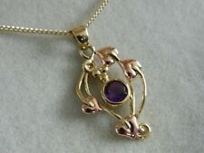 Clogau 9ct Welsh Gold Love Vine Amethyst Pendant RRP £610.00